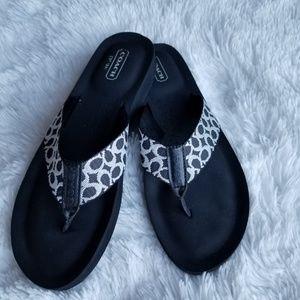 Coach Shoes - Coach jessalyn flip flops